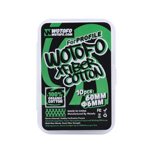 Wotofo Xfiber Cotton For Profile - 10 Pack