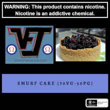 Vape Force Juices Smurf Cake - 60ml