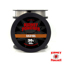 Kidney Puncher SS316L Wire 30ft Spool - 30G