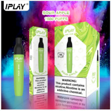 IPLAY Vino Plus Disposable Pod (1000 Puffs) - Sour Apple 50mg