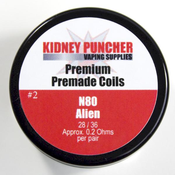 KP Premade N80 Aliens & Advanced Aliens Coils (.3x.3/38 .2ohms 3mm-ID 6-Wrap #4)