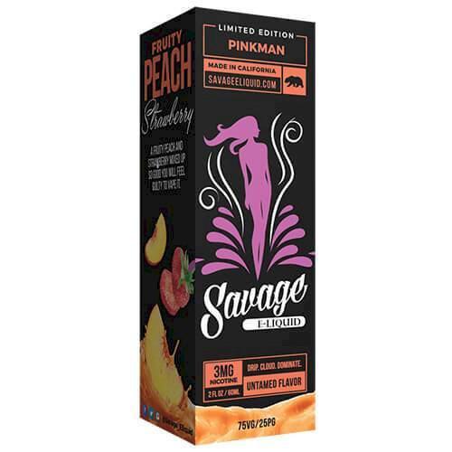 Savage Eliquid - Pinkman - Fruity Peach Strawberry 60ml