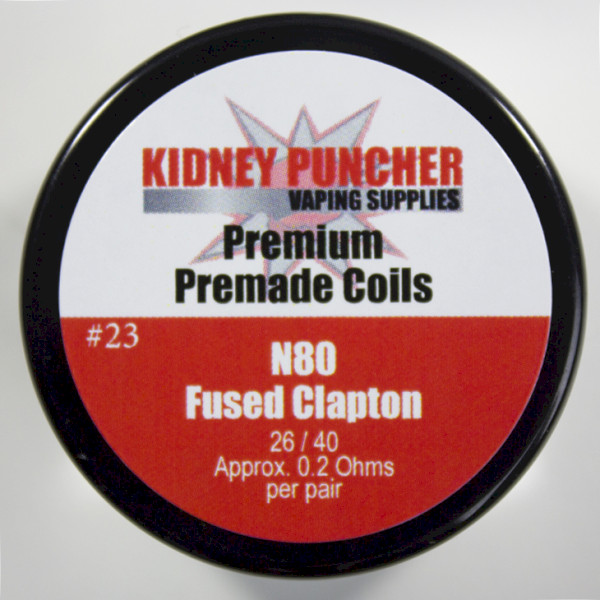 KP Premade N80 Fused Clapton Coils (22/30 .1ohms 6mm-ID 5-Wrap)