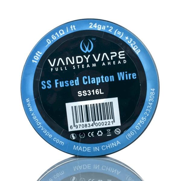 Vandyvape Fused Clapton KA1 Wire 24ga*2mm + 32ga 10FT