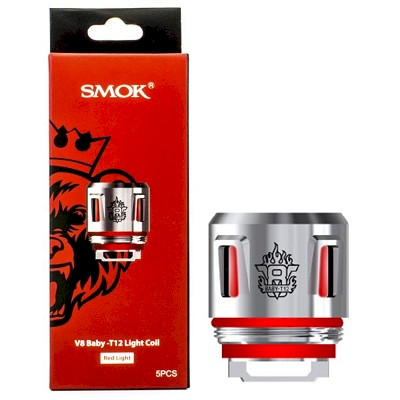 SMOK V8 Baby T12 Light Coil 0.15ohm - 5 Pack (Red)