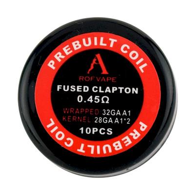 Rofvape Fused Clapton PreBuilt Wire 0.45ohm 28GA*2 32GA  - 10 Pack