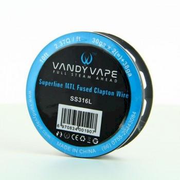 Vandyvape Superfine MTL Fused Clapton Wire  30GA*2+38GA SS316L - 10FT