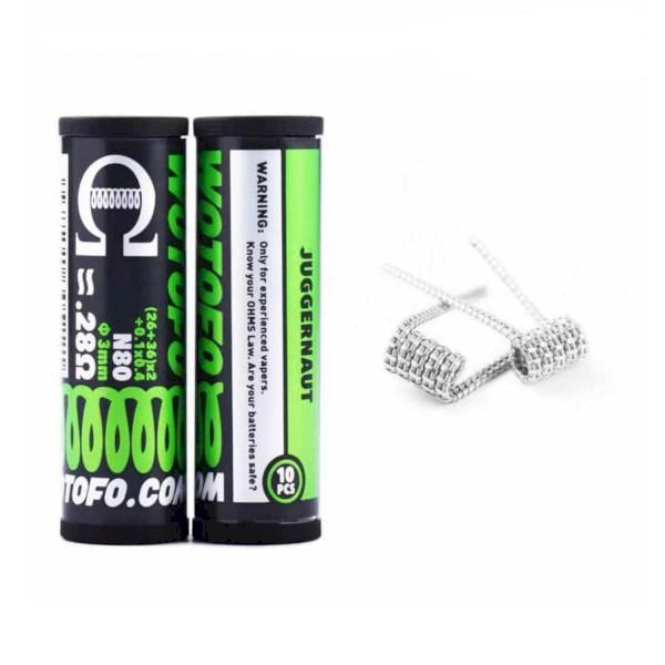 Wotofo Juggernaut Prebuilt Wire 0.28ohm - 10 Pack