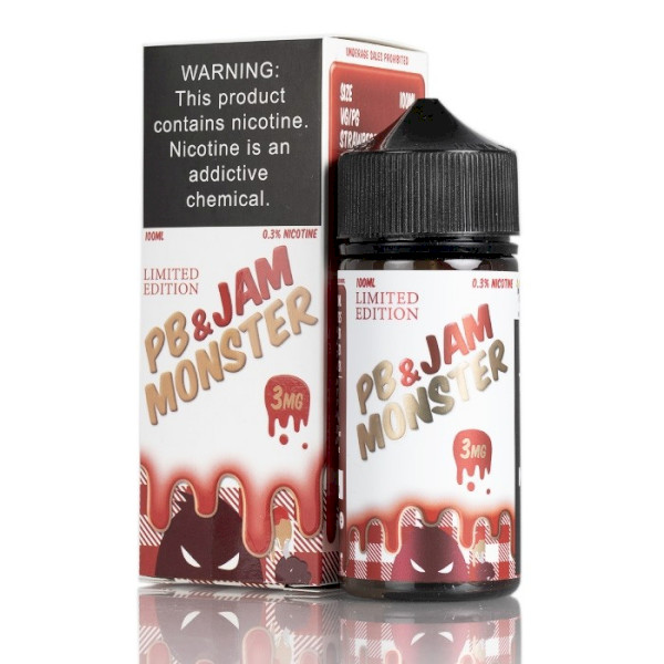 Jam Monster - PB & Strawberry 100ml