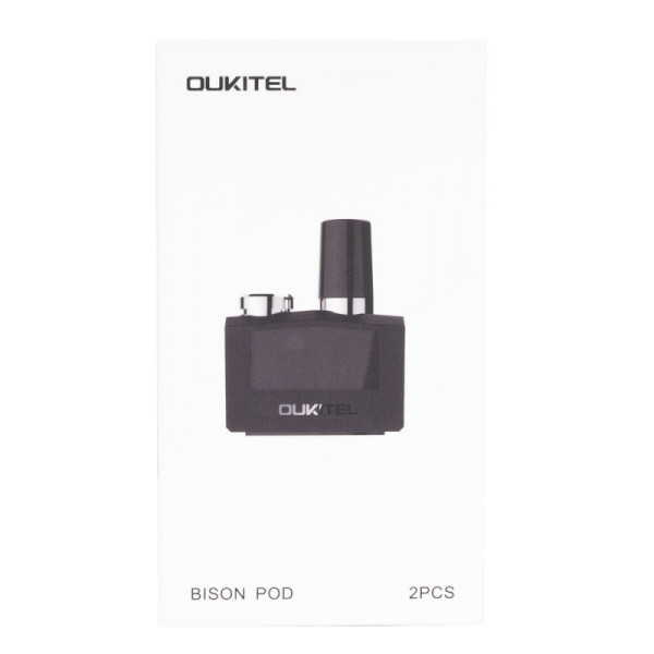 Oukitel Bison Vape Cartridge - Stainless Steel (Empty) - 2 Pack