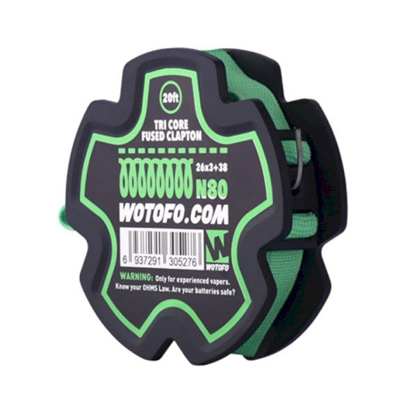 Wotofo TRI Core Fused Clapton Wire 26GA*3+38GA 20FT Spool