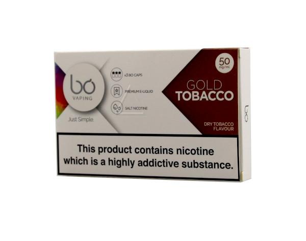 BO Vape - Gold Tobacco 50mg - 3 Pack