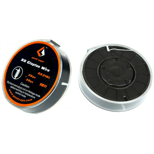 Geekvape SS Clapton Wire 26ga+30ga - 10FT