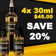 Vape Shed Premium Liquid 30ml - 4 Pack