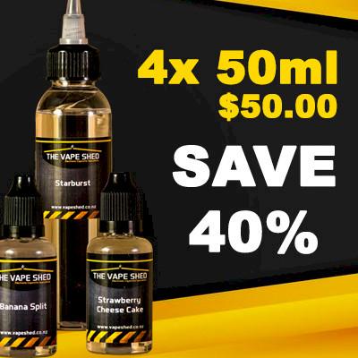 Vape Shed Premium Liquid 50ml - 4 Pack
